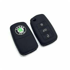 Immutable Skoda Black Silicone Car Key Cover - Fabia;Rapid;Yeti;Laura & Superb
