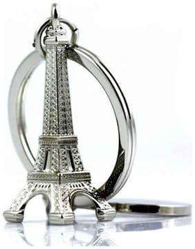 Indiashopers Eiffel Tower Key Chain (Multicolor)