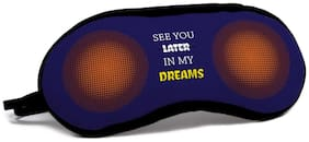 Indigifts Valentine Day Gifts See You in My Dreams Quote Pop Art Halftone Dotted Pattern Blue Eye Mask