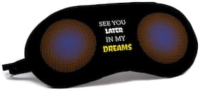 Indigifts Valentines Day See You in My Dreams Quote Pop Art Black Eye Mask
