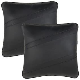 Infinity Fox Classic Cross Car Seat Cushion;Universal For All Cars;Black;Set Of 2 Pcs