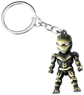 Iron Man 3D Model Keyring Marvel Alloy Key Chain - Assorted