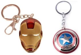 Ironman and captain american shiled keychain