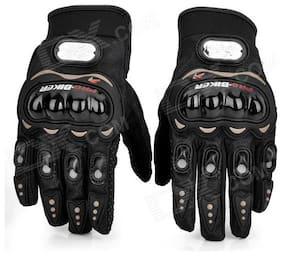 jain star Full Finger Gloves For Bikers Black