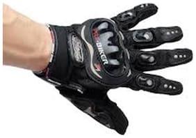 jain star Probiker Full Finger Gloves for Bikers (Black)