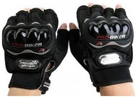 jain star Probiker Riding Gloves - 1 Pair for Bike Motorcycle Scooter Riding - Black Colour