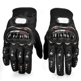 jain star Probiker Full Finger Gloves For Bikers Black
