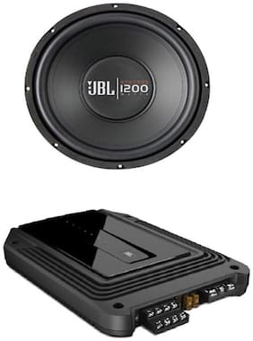 JBL CS1200WSI 30.5cms Subwoofer with JBL GX-A646SI 4 channel Channel Amplifier