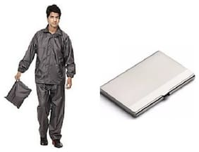Jim-Dandy Raincoat With Lower And Cap, Steel Card Holder