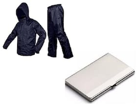 Jim-Dandy Rain Coat With Lower & Cap, Steel Card Holder