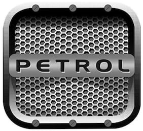 Just rider Diesel Sticker/Decals/Fuel Badge/Graphics for Universal car (Square Grey Petrol)