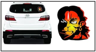 Just rider Hanuman Sticker for car (Hanuman Red 6x6 )