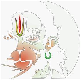 JUST RIDER Top Hanuman Sticker for Hero Splendor (White)