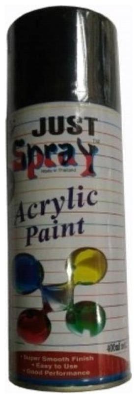 JUST SPRAY FLAT BLACK (MATT) Color Multipurpose General Spray Paint for CarM Bike, Home, Etc 400 Ml
