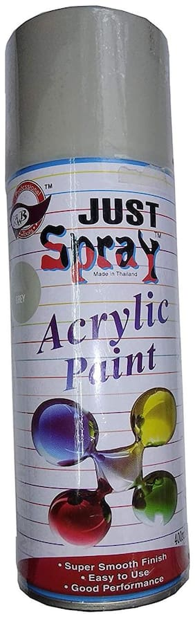 JUST SPRAY GREY Color Multipurpose General Spray Paint for CarM Bike, Home, Etc 400 Ml