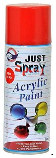 JUST SPRAY SIGNAL RED Color Multipurpose General Spray Paint for CarM Bike, Home, Etc 400 Ml