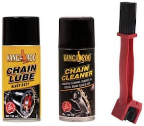 Kangaroo CHAIN LUBRICANT  + CHAIN CLEANER + BRUSH  300 ml