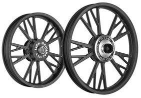 Kingway Y3B Y Model Bike Alloy Wheel Set of 2 19/18'' Black-Royal Enfield Classic 350