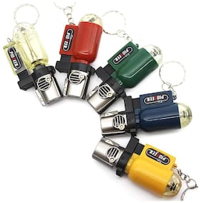 KMT02 Classic Refillable Windproof Cylindrical Shape Gas Lighters Transparent Pocket Lighter
