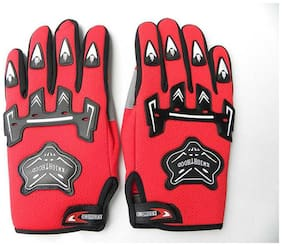 Knighthood 1 Pair Of Hand Grip For Bike Motorcycle Scooter Riding - Red Color Driving Gloves