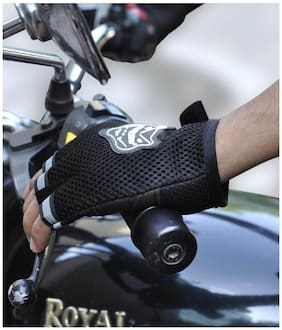Knighthood Half Cut Racing Biking Driving Motorcycle Gloves