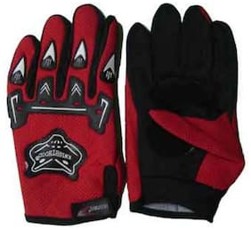 KnightHood Hand Gloves For Bikers Red