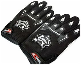 KnightHood Hand Gloves For Bikers Black