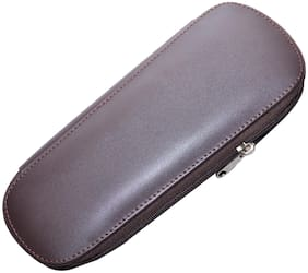 Knott Brown Leather Multi key pouch with Zip Closure