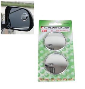 Kozdiko 3R Round Shaped Blind Spot Rear Side Mirror for Maruti Suzuki Zen