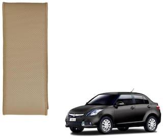 Kozdiko Beige Leatherite Steering Cover Stitchable Punched For Maruti Suzuki Swift Dzire New