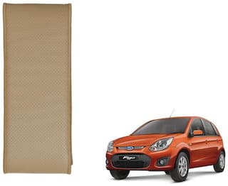 Kozdiko Beige Leatherite Steering Cover Stitchable Punched For Ford Figo