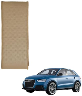 Kozdiko Beige Leatherite Steering Cover Stitchable Punched For Audi Q3