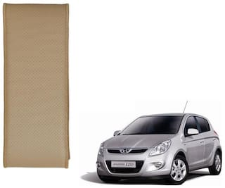 Kozdiko Beige Leatherite Steering Cover Stitchable Punched For Hyundai i20