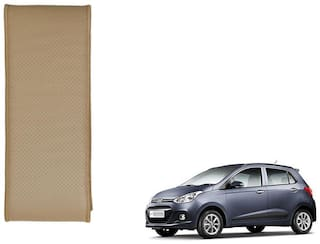 Kozdiko Beige Leatherite Steering Cover Stitchable Punched For Hyundai i10 Grand
