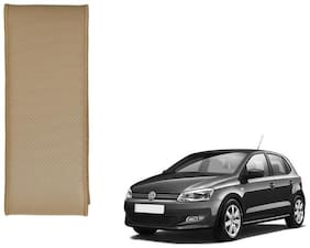 Kozdiko Beige Leatherite Steering Cover Stitchable Punched For Volkswagen Polo