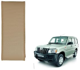 Kozdiko Beige Leatherite Steering Cover Stitchable Punched For Mahindra Scorpio