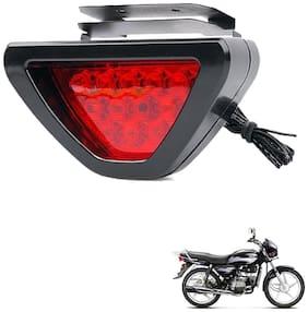 Kozdiko Bike Triangle Shape 12 LED Brake Light with Flash Mode For Hero Splender Plus