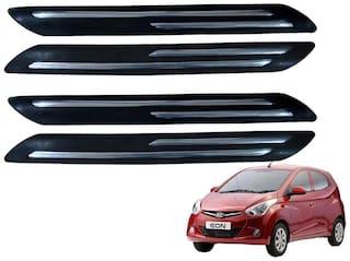 Kozdiko Black Double Chrome Bumper Protector 4 pc For Hyundai Eon
