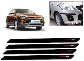 Kozdiko Black & Red Bumper Protector Guard 4 pc For Hyundai i20 active