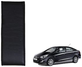 Kozdiko Black Leatherite Steering Cover Stitchable Punched For Hyundai Verna Fluidic