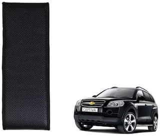 Kozdiko Black Leatherite Steering Cover Stitchable Punched For Chevrolet Captiva