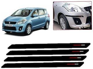Kozdiko Black & Red Bumper Protector Guard 4 pc For Maruti Suzuki Ertiga
