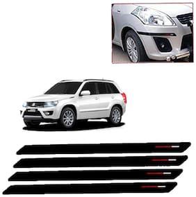 Kozdiko Black & Red Bumper Protector Guard 4 pc For Maruti Suzuki Grand Vitara