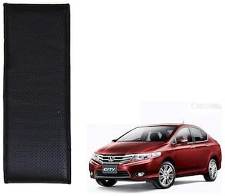 Kozdiko Black Leatherite Steering Cover Stitchable Punched For Honda City i-vtec