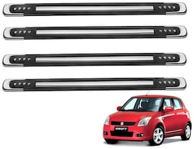 Kozdiko Black Designer Dotted Bumper Protector 4 pc For Maruti Suzuki Swift