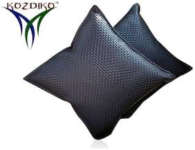 Kozdiko Black Leatherite Car Pillow Cushion Kit 2 pc for Mahindra Bolero
