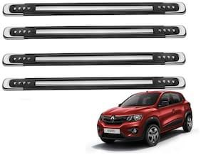 Kozdiko Black Designer Dotted Bumper Protector 4 pc For Renault Kwid