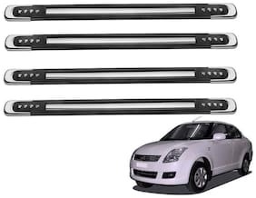 Kozdiko Black Designer Dotted Bumper Protector 4 pc For Maruti Suzuki Swift Dzire