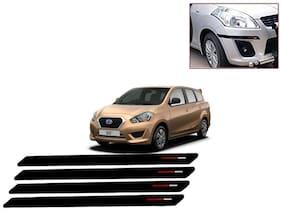 Kozdiko Black & Red Bumper Protector Guard 4 pc For Datsun Go Plus