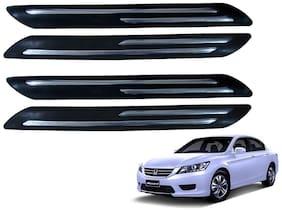 Kozdiko Black Double Chrome Bumper Protector 4 pc For Honda Accord
